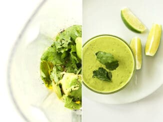 Creamy Coriander Lime Dressing Recipe
