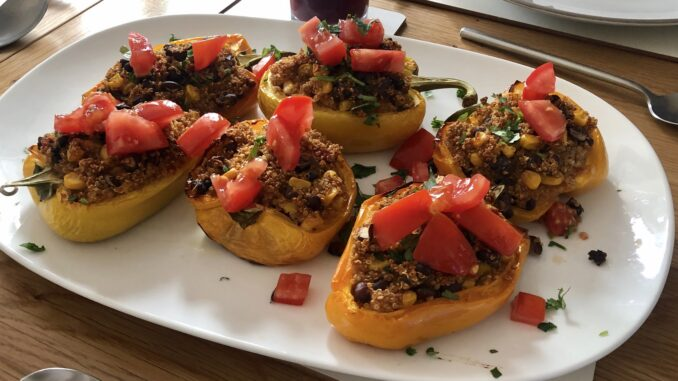 Stuffed Mexican Quinoa Peppers