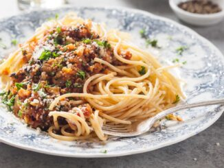 Cauliflower and Mushroom Meat Free Bolognese